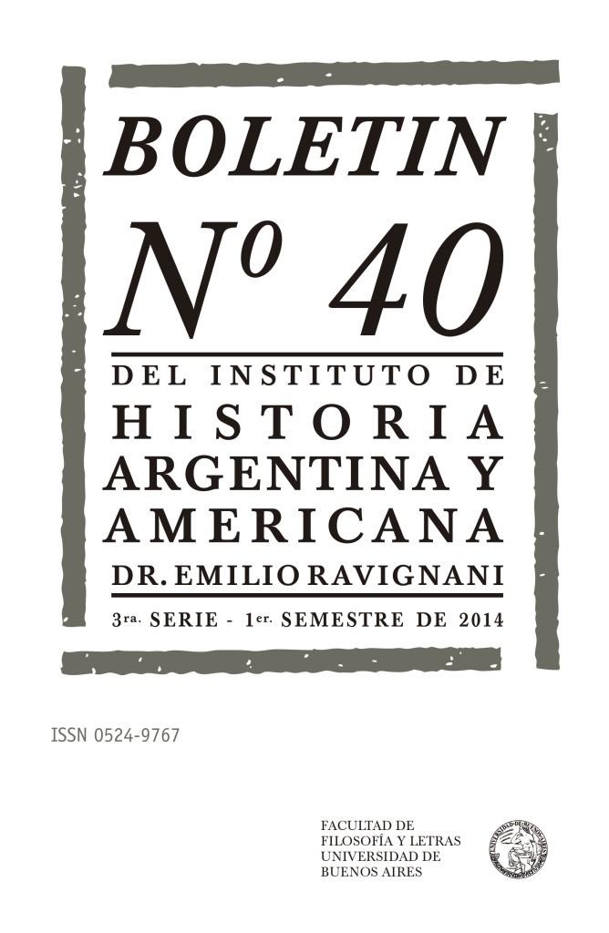 Boletín Ravignani nº 40
